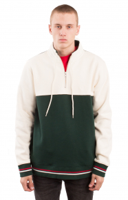 Drawcord Mock Neck - Green