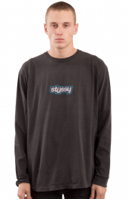 Drop U Pigment Dyed L/S Shirt - Black