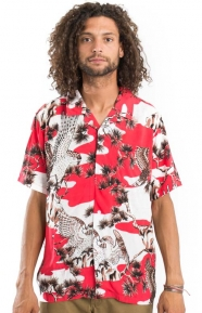 Falcon Button-Up Shirt - Red