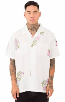 Hana Printed S/S Button-Up Shirt - White