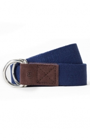Stussy Clothing, Herringbone D-Ring Belt - Navy