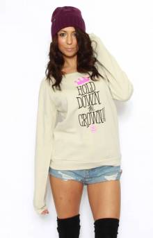 Hold Down The Crown Sloppy Crewneck