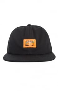 Stussy Clothing, Jungle Cloth Strap-Back Hat - Black