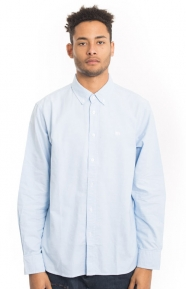 Stussy Clothing, Lion Oxford Button-Up Shirt - Blue