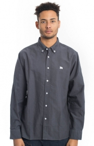 Stussy Clothing, Lion Oxford Button-Up Shirt - Charcoal