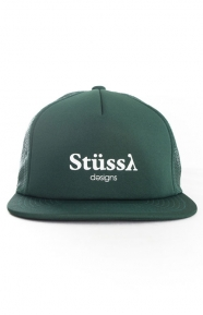 Stussy Clothing, Mesh Trucker Hat - Forest