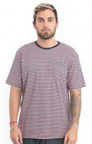 Mini Stripe S/S Jersey - Pink