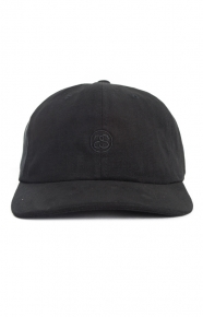 Stussy Clothing, Moleskin Strap-Back Hat - Black