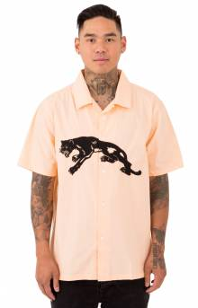 Panther S/S Button-Up Shirt - Peach