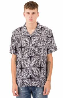 Psychedelic Checker Button-Up Shirt - White