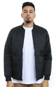 Stussy Clothing, Quilted Military Jacket - Black