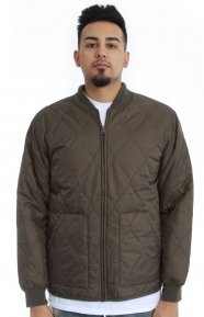 Stussy Clothing, Quilted Military Jacket - Olive