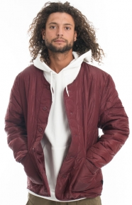 Quilted Milliary Jacket - Burgundy