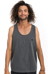 Small Stock Pigment Dyed Tank Top - Black