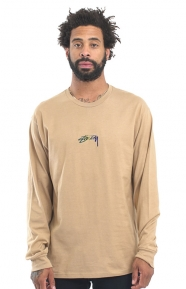 Smooth Stock Embroidered L/S Shirt - Light Brown