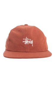 Stussy Clothing, Smooth Stock Twill Snap-Back Hat - Brick