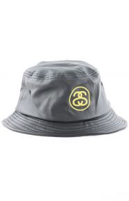 SS Link Leather Bucket Hat - Black