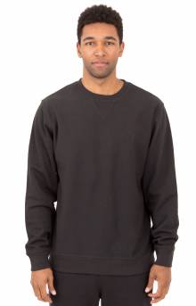 Stock L/S Terry Crewneck - Black