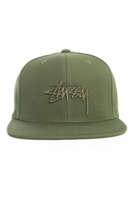 Stussy Clothing, Stock Snap-Back Hat - Green