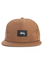 Stussy Clothing, Stock Woven Label Strap-Back Hat - Brown