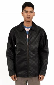 Tonal Check Jacket - Black