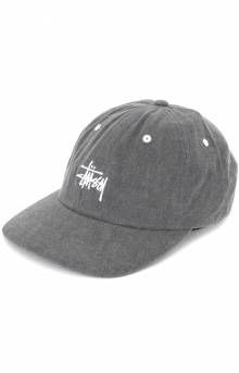 Washed Stock Low Pro Cap - Black