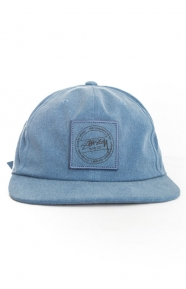 Stussy Clothing, Washed Twill Strap-Back Hat - Navy
