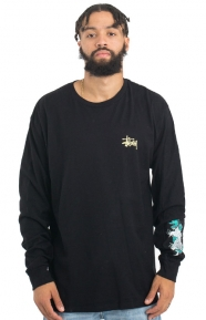 Wave Dragon L/S Shirt - Black
