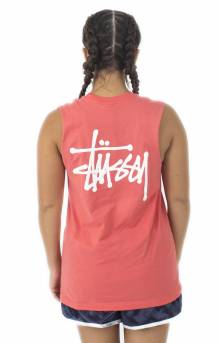 Basic Stussy Raw Muscle Tee - Rose