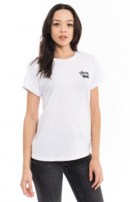 Stussy Womens Clothing, Dice Cuff T-Shirt - White