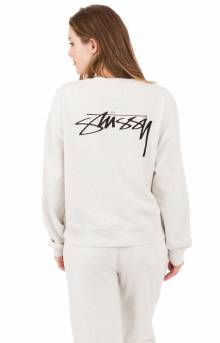 Ezra Cropped Baggy Crewneck - White Heather