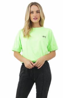Stussy Women s International Arc Pigment Dyed T-Shirt - Green 26af031ac8