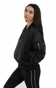 Micha Bomber Jacket - Black