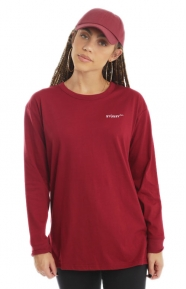 Stussy Womens Clothing, Rudy Oversized Shirt - Red
