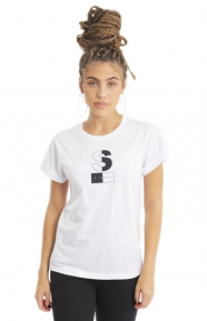 Stussy Womens Clothing, Two Toner Cuff T-Shirt - White