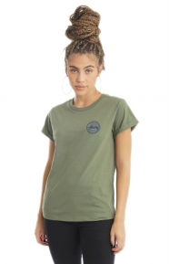 Stussy Womens Clothing, Vintage Dot Cuff T-Shirt - Olive