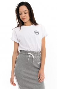Stussy Womens Clothing, Vintage Dot Cuff T-Shirt - White