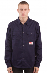 Work L/S Button-Up Shirt - Navy