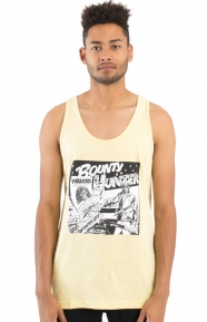 Barrington Levy Jah Life Bounty Hunter Tank Top - Pale Yellow