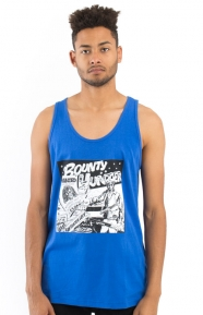 Barrington Levy Jah Life Bounty Hunter Tank Top - Royal Blue
