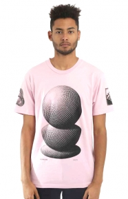 M.C. Escher Three Spheres T-Shirt - Pink