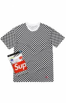 Checker Tagless Tee 2 Pack
