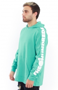 Alpha Hooded L/S Shirt - Turquoise