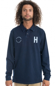 The Hundreds Clothing, Quin L/S Polo - Navy