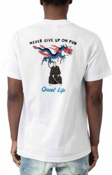 Never Give Up On Fun T-Shirt - White