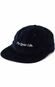 Serif Cord Polo Hat - Navy