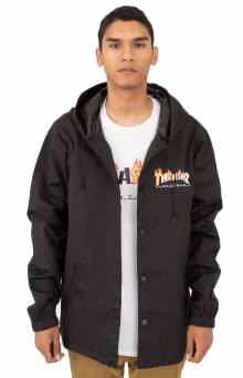 Flame Mag Coaches Jacket - Black