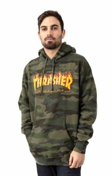 Flame Pullover Hoodie - Forest Camo