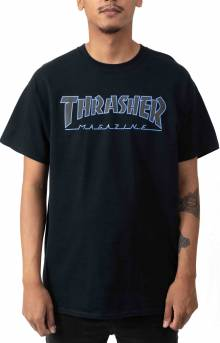 Outlined T-Shirt - Navy Blue