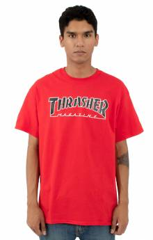 Outlined T-Shirt - Red